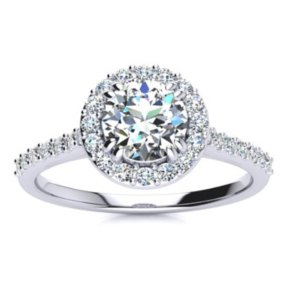 Dealmoon exclusive!$979.971 Carat Halo Engagement Ring in 14k Gold @ SuperJeweler
