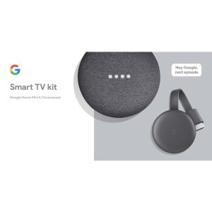 Google 智能电视套装 (Home Mini + Chromecast)