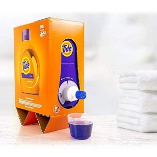 $19.99Tide Liquid Laundry Detergent Eco-Box, Original Scent, 105 fl oz, 96 Loads