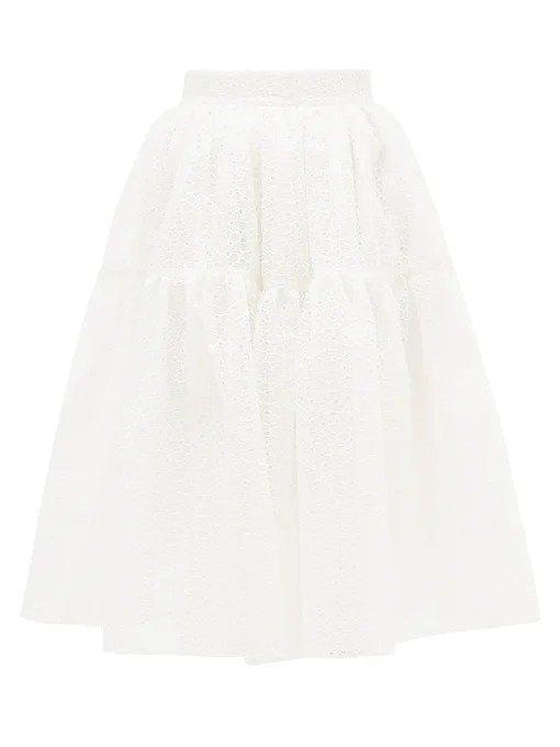 白色半身裙