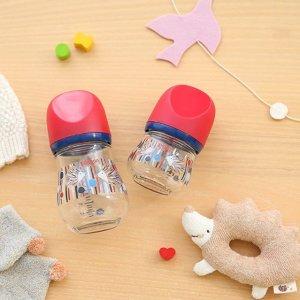 4.7折 $20.68(原价$34.67)直邮到手价日亚史低价:Pigeon 贝亲 母乳实感 奶瓶 耐热玻璃 日本本地产