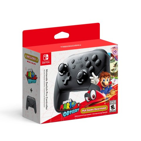 $99.99Nintendo Switch Pro Controller with Super Mario Odyssey Full Game Download Code
