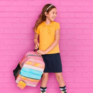 2折起 奶茶色百褶裙$10The Children's Place 大童返校季 粉polo衫$6、7条内裤$5.9