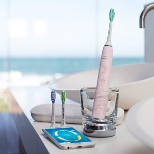 Dealmoon Exclusive $114.99 Philips Sonicare DiamondClean Smart Electric Rechargeable Toothbrush (Pink)
