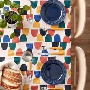 低至5折 有机棉餐巾$1.99Simons 家居庭院好物 $6.99收封面几何图形桌布