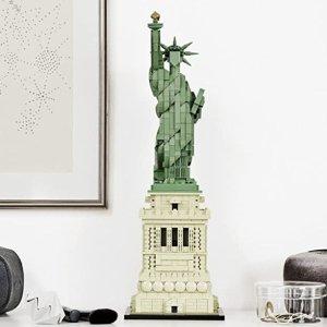 折后€68.99 细节逼真LEGO 21042 乐高建筑系列 自由女神像 1685件零件