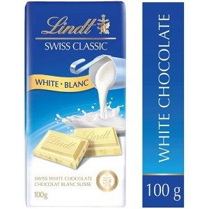官网$3.69Lindt Swiss 经典白巧克力 100g
