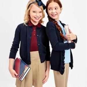 包邮 包臀衫$2 polo衫$5Children's Place官网 童装返校3-5折热卖,校服2倍积分