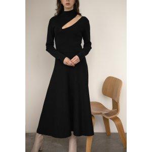 Oak + Fort镂空高领连衣裙