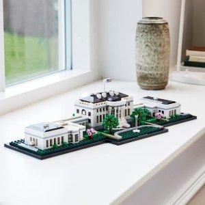 7.7折 €74.99(原价€97.47)LEGO Architecture 白宫2020新版 21054 你不在白宫但白宫可以在你家