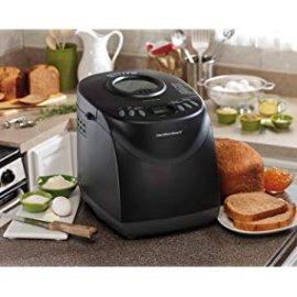 Amazon.com: Hamilton Beach 29882 2 lb Non-Stick Bread Maker Programmable and Dishwasher Safe, Includes 2 Kneading Paddles, Black: Bread Machines: Kitchen & Dining
