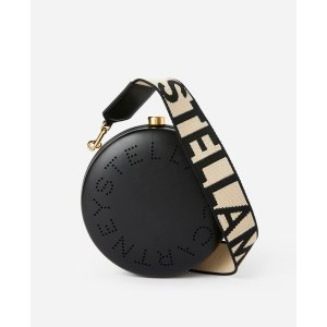 Women's Black Mini Round Logo Bag | Stella McCartney Men