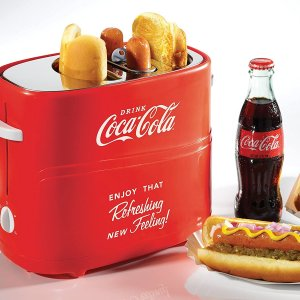 $24.99(原价$49.99)复古可口可乐热狗机 享受当下美味一口 可同时制作2份热狗
