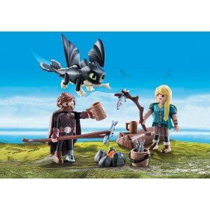 PLAYMOBIL®Hiccup and Astrid with Baby Dragon