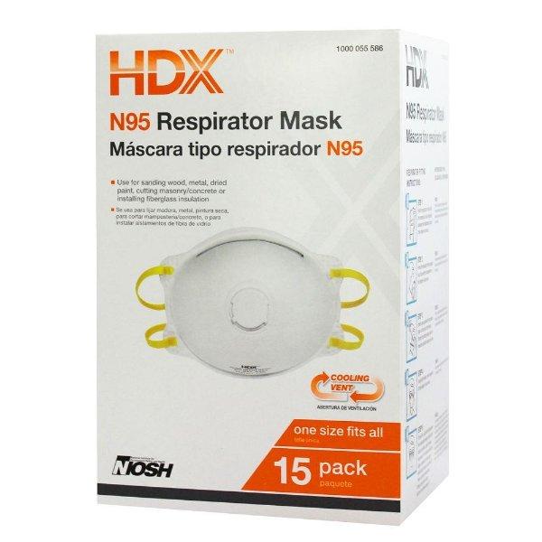 N95 呼吸口罩 15个装