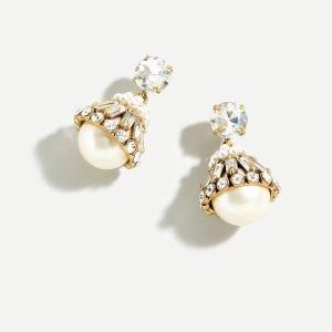 J.CrewCrystal and pearl drop earrings