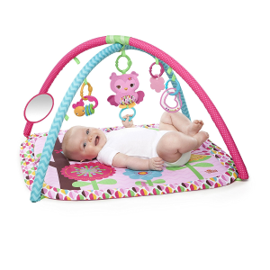 $24right Starts Charming Chirps Activity Gym, Pretty In Pink @ Amazon