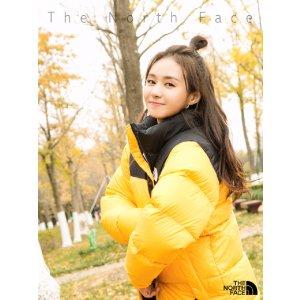 郑合惠子同款拼色面包羽绒服