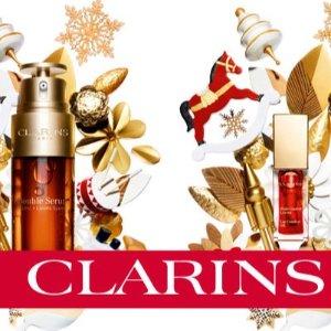 全场8折+送洁面及面膜5件套圣诞倒计时:Clarins 折扣专场 黑五结束 圣诞来临