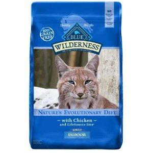 Blue Buffalo Wilderness鸡肉味室内猫猫粮 11磅