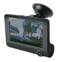 前后双摄像头大屏行车记录仪 送8G卡