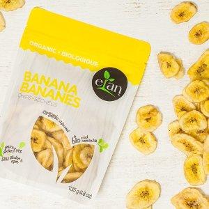 $2.99收135gELAN 有机香蕉脆片 一口一片 香香脆脆不长胖