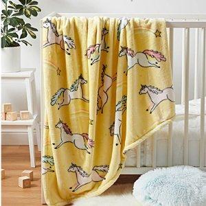封面独角兽新款$18Simons 舒适质感薄毯热卖  收萌萌小动物系列孩子坠喜欢