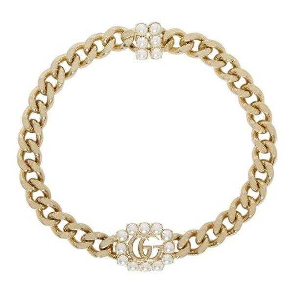 珍珠GG手链