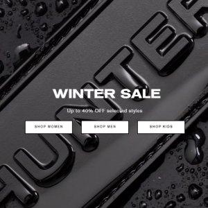 低至6折Hunter官网 冬季大促开启 好价收雨靴界的5050