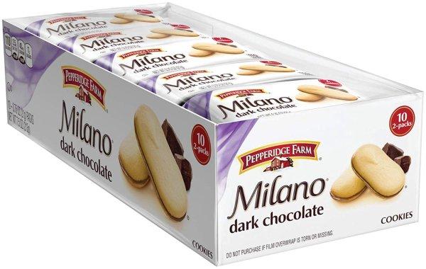 Milano 黑巧克力夹心饼干 10包