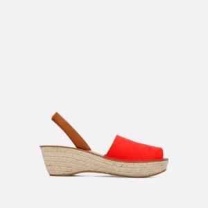Kenneth ColeFine Glass Slingback Platform Espadrille