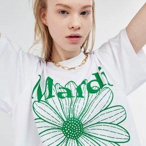 低至5折+额外9折Mardi Mercredi 超火韩国潮牌 收封面尹胜雅同款雏菊T恤