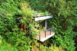 Pleasant Bay Lookout (epic sea view + hot tub) - Treehouses for Rent in Bellingham, Washington, United States