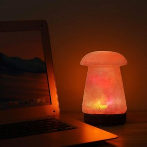 $19.99(原价$39.99)Apex 天然喜马拉雅 负离子 水晶盐蘑菇灯 5英寸