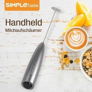 折后仅€12.99 德亚1.5万+好评SimpleTaste 电动手持奶泡器热促 造型时尚 附赠支架