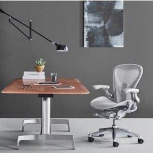Aeron 办公椅 灰色 不锈钢底座