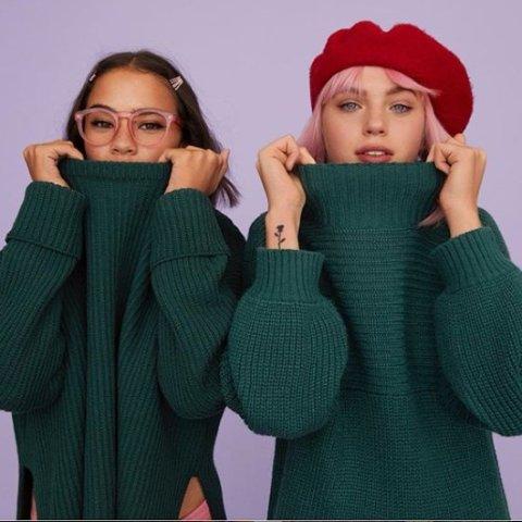 低至3折+额外9折 新款8.5折 条纹毛衣£10 糖果色毛衣£2211.11独家:Monki 大毛衣专场 精致可爱又简约 糖果色、花条纹、粗毛线款全参与