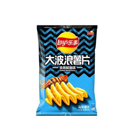 【2%返点】乐事大波浪薯片铁板鱿鱼味