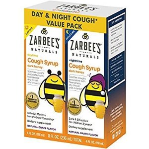 $12Zarbee's Naturals Children's Cough Syrup with Dark Honey Day & Night Value Pack, Natural Grape Flavor, 4 Fl Oz, 2 Count @ Amazon