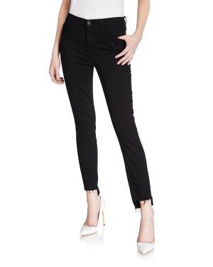 FRAME Le Skinny de Jeanne Raw Stagger-Hem Jeans | Neiman Marcus