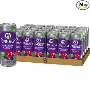 现价$10.47(原价$14.96)V8 +Energy 石榴蓝莓口味绿茶能量饮料 24罐