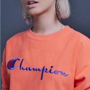 $21.9起Champion  精选超火卫衣、短袖等热卖