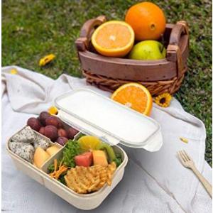 $13.99起Jeopace 小麦纤维便当盒 可微波不撒汤 午餐、小食、野餐都可