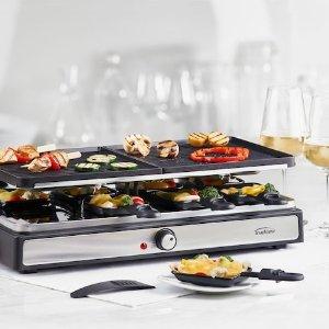 19个配件 可供8人使用Linen Chest  双层家用多功能电烤盘