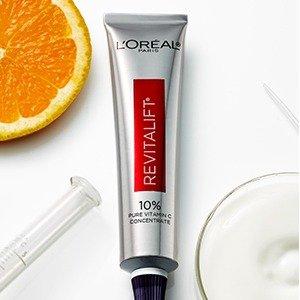 $28.49收30ml(原价$32.96)L'Oréal 欧莱雅10%VC抗老精华 抗氧化祛皱一把抓 平价抗老王者