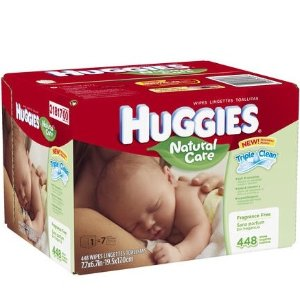 $7Huggies Natural Care 温和配方婴儿湿巾 504张