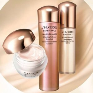 7-pc Skincare Bonus of Your Choice (Up to $101 Value)With $75 Benefiance Purchase @ Shiseido