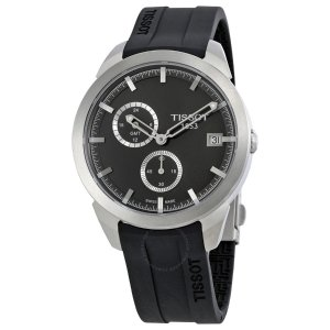 Extra $40 Off $185TISSOT Titanium GMT Black Dial Men's Watch T0694394706100