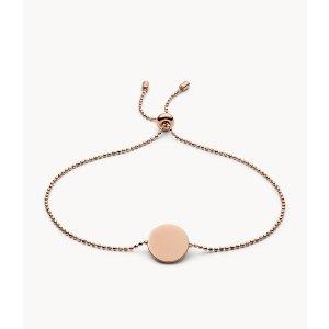 FossilDisc Rose Gold-Tone Stainless Steel Bracelet