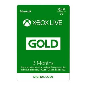 $20.99Xbox LIVE 3 Month Gold Membership US Digital Code